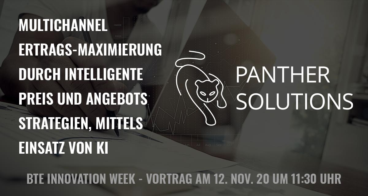 Panther Solutions BTE VortragMultichannel Ertrags-Maximierung durch intelligente Preis und Angebots Strategien, mittels KI
