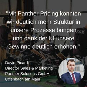 _Mit Panther Pricing konnten wir deutlich mehr Struktur in unsere Prozesse bringen und dank der KI unsere Gewinne deutlich erhöhen._